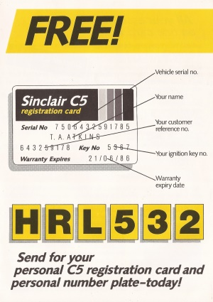 Registration Card and Number Plate