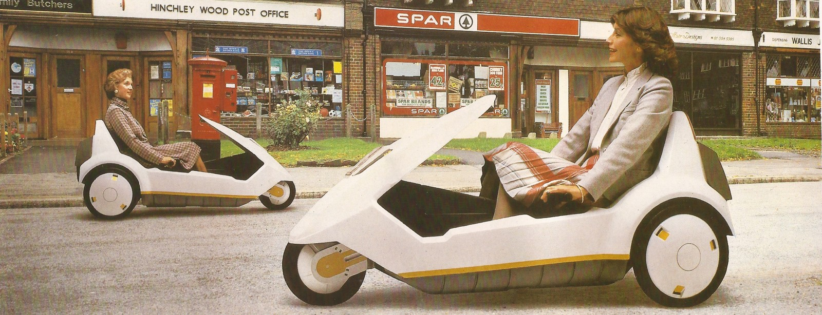 Lets go shopping in a Sinclair C5!